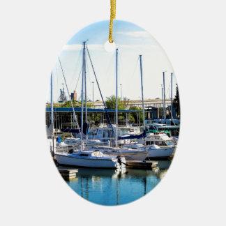Decatur Alabama Boat Harbor Ceramic Ornament