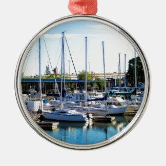 Decatur Alabama Boat Harbor Metal Ornament
