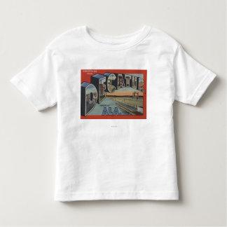 Decatur, Alabama - Large Letter Scenes T Shirt