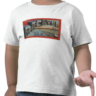 Decatur, Alabama - Large Letter Scenes Tshirt