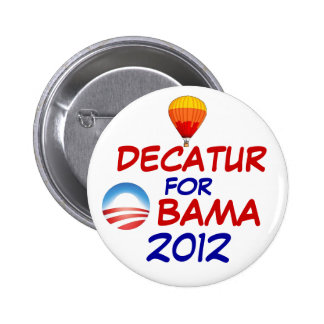 Decatur for Obama Button