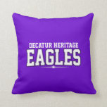 Decatur Heritage Christian Academy; Eagles Throw Pillow