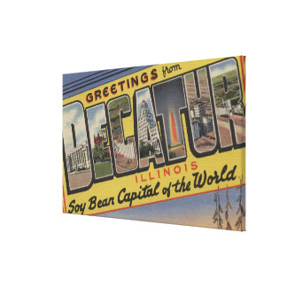 Decatur, Illinois (Soy Bean Capital) Canvas Print