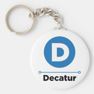 Decatur line keychain