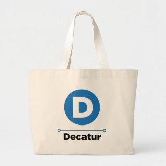 Decatur line large tote bag