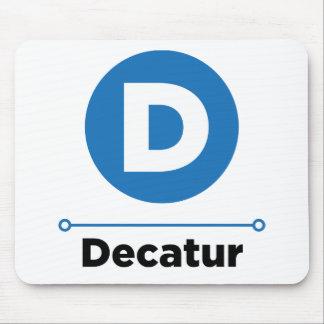 Decatur line mouse pad