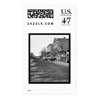 Decatur Street in Atlanta, GA 1864 Stamp