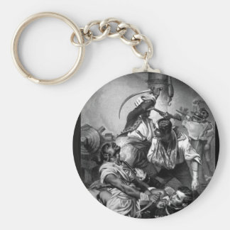 Decatur's Conflict with the Algerine at Tripoli_Wa Keychain