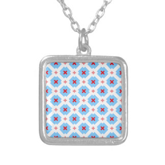 Decay Bavaria graph IC Silver Plated Necklace