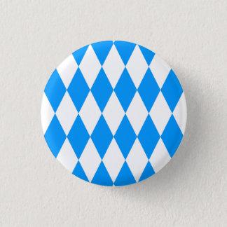 Decay Blue White Fresh Bavaria Pattern Pinback Button