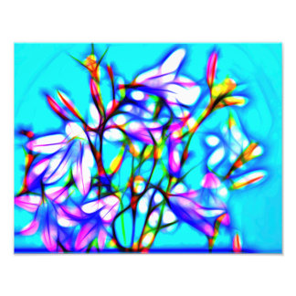 decay graph IC with bluebells Pop kind Photo Print