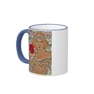 Decay kind Nouveau Woman Cup cup Ringer Coffee Mug