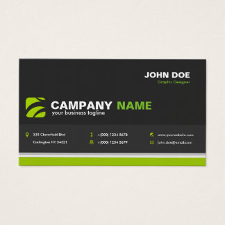 Decay Professional Business Card in Dark Gray