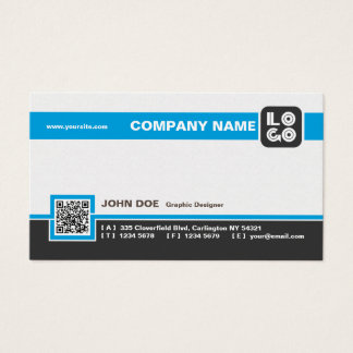 Decay Professional Business Card in Gray and Blue
