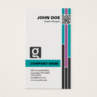 Decay Professional Business Card in Gray Green