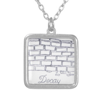 Decay Square Pendant Necklace