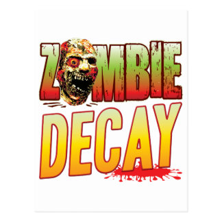 Decay Zombie Head Postcard