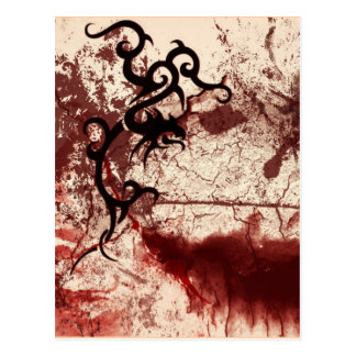 Decayed Tribal gothic Post Card