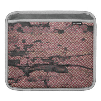 Decayed Wall Paper Red Pattern Sleeve For iPads