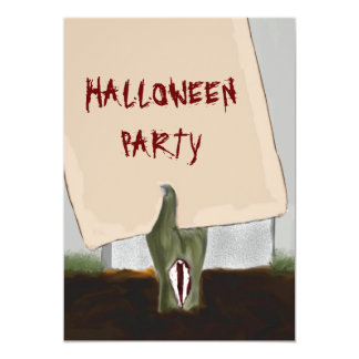 Decaying Zombie Hand Halloween Party Invitation