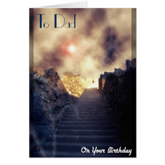 Deceased Dad/Father Birthday Greeting Card