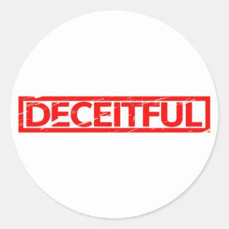 Deceitful Stamp Classic Round Sticker