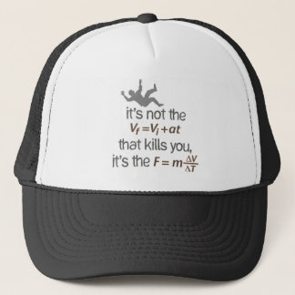 deceleration trucker hat