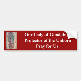 December 12   Our Lady of Guadalupe Car Bumper Sticker
