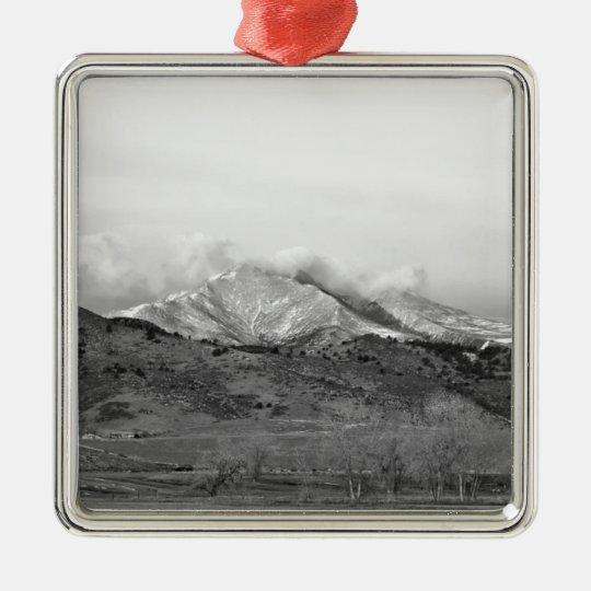 December 16th Twin Peak Sunrise BW View Metal Ornament