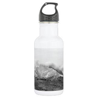 December 16th Twin Peak Sunrise BW View 18oz Water Bottle
