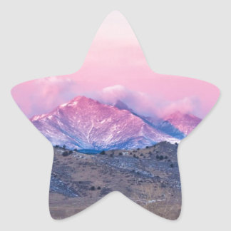 December 16th Twin Peak Sunrise View Star Sticker