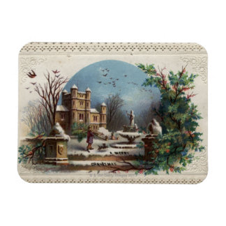 December 1872: The gardener collects holly Magnet