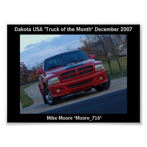 December 2007 Truck of the Month Poster