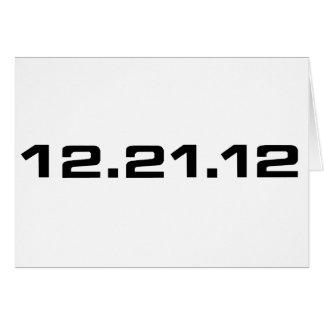 December 21, 2012 Clothing Card