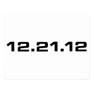 December 21, 2012 Clothing Postcard