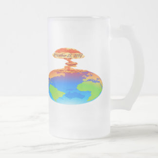 December 21, 2012 frosted glass beer mug