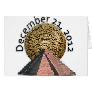 December 21, 2012 Mayan Calendar Card