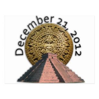 December 21, 2012 Mayan Calendar Postcard
