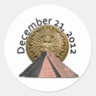 December 21, 2012 Mayan Calendar Stickers