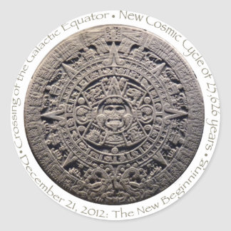 DECEMBER 21, 2012: The New Beginning commemorative Round Stickers