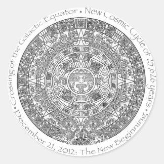 DECEMBER 21, 2012: The New Beginning commemorative Round Sticker