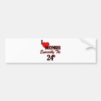 december 24 designs bumper sticker