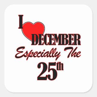 december 25 designs square sticker