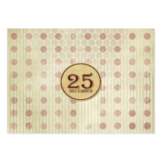 December 25th Button Paper Business Card Template