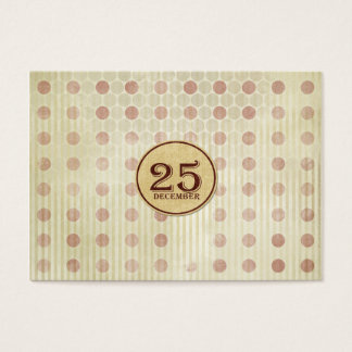 December 25th Button Paper Business Card