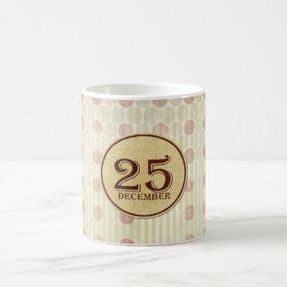 December 25th Button Paper Coffee Mug