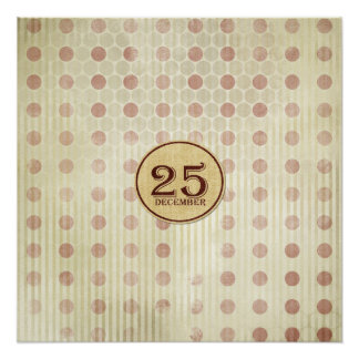 December 25th Button Paper Poster