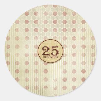 December 25th Button Paper Sticker
