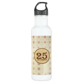 December 25th Button Paper Water Bottle