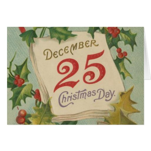 December 25th Christmas Day Card   Zazzle